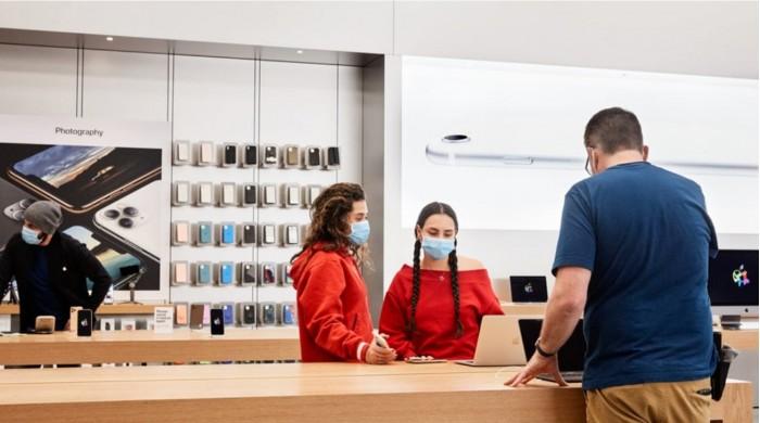 苹果将在本周再重开100家美国Apple Store门店