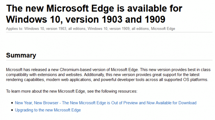[图]微软现通过 Windows Update 邀请更多人使用新版 Edge 浏览器