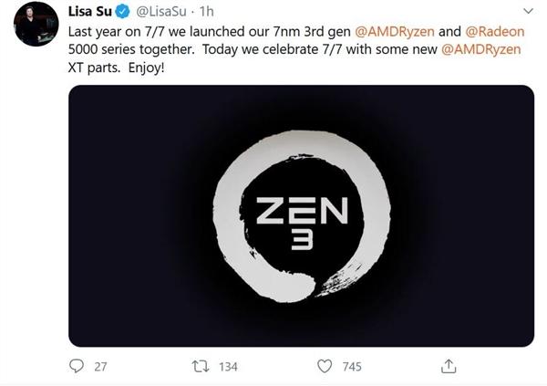 AMD CEO苏姿丰:Zen 3年底如期发布 表现棒极了
