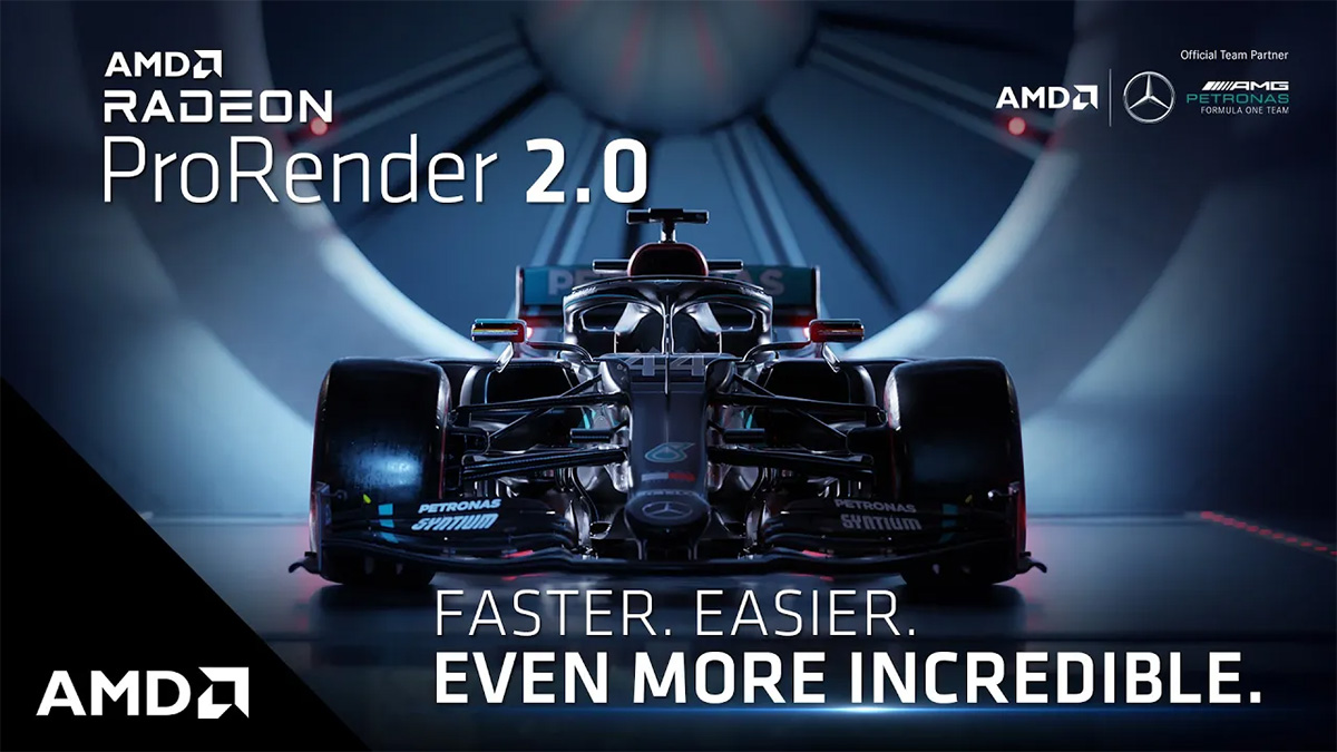 AMD推出ProRender 2.0渲染器, 加入支持RX 6900 XT硬件光追