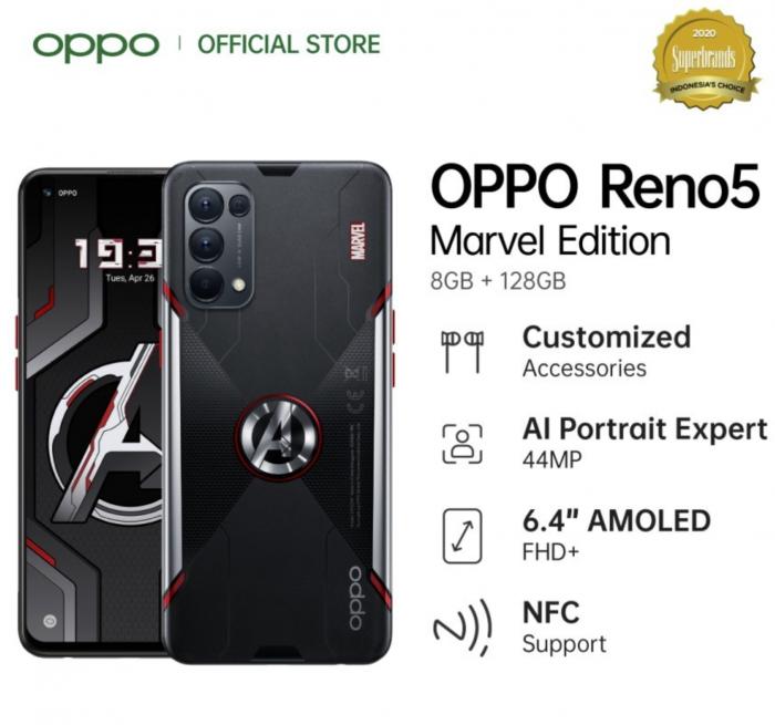OPPO在印尼推出Reno5漫威版智能手机【图】